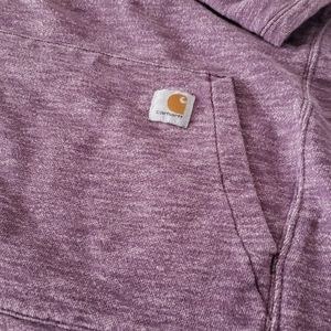Carhartt hooded sweatshirt, purple heather
